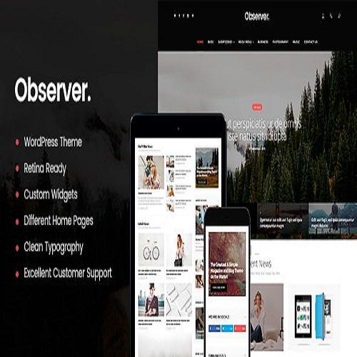 Daily Observer A Modern Magazine News Portal WordPress Theme