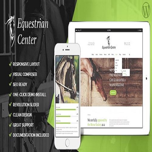 Equestrian Centre Horse riding School Hippodrome WordPress Theme