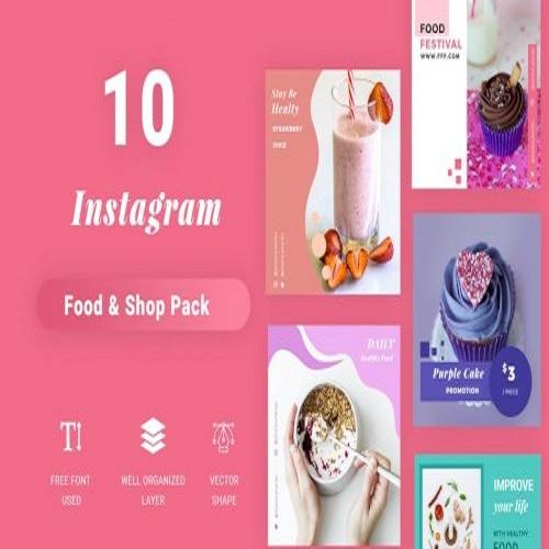 instagram social media pack food edition 1559030448