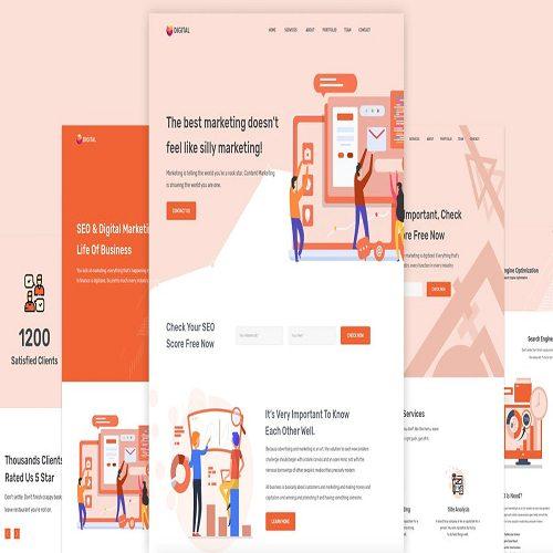 Digitax SEO Digital Marketing Agency WordPress Theme