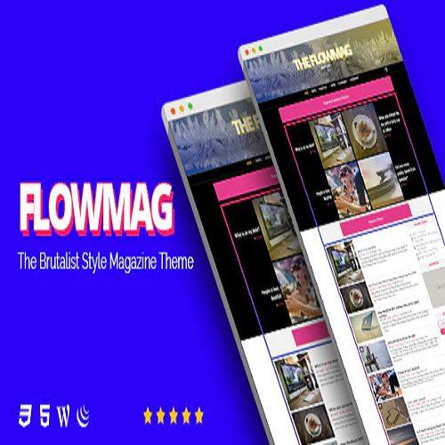 FlowMag Brutalist WordPress Magazine Theme