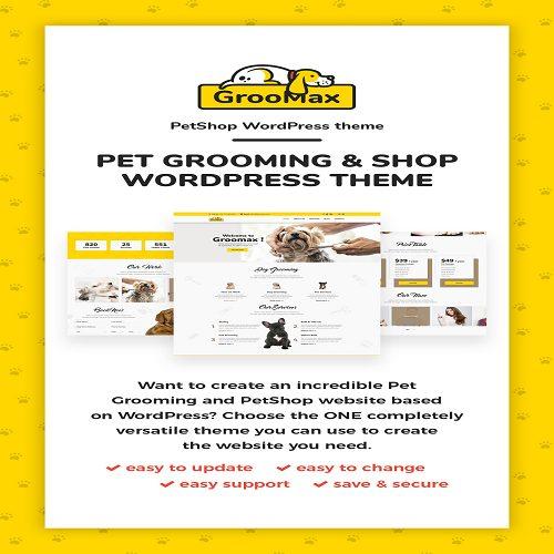 Groomax Pet Grooming Shop WordPress Theme