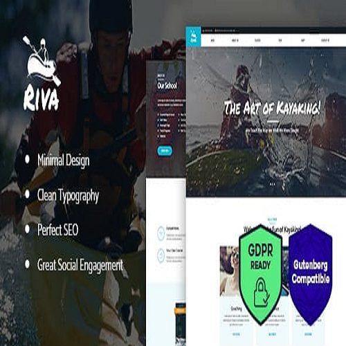 Kayaking Paddling Water Sports Outdoors WordPress Theme