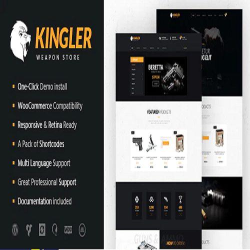 Kingler Weapon Store Gun Training WordPress Theme