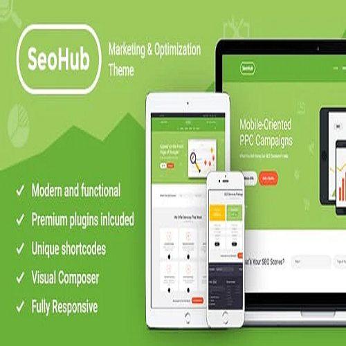 SEOHub A Colorful SEO Marketing Agency WordPress Theme