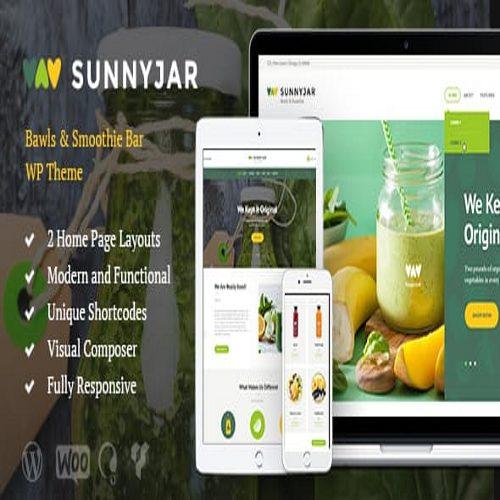 SunnyJar Smoothie Bar Healthy Drinks Shop WordPress Theme