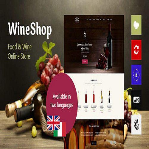 WineShop Food Wine Online Store WordPress Theme