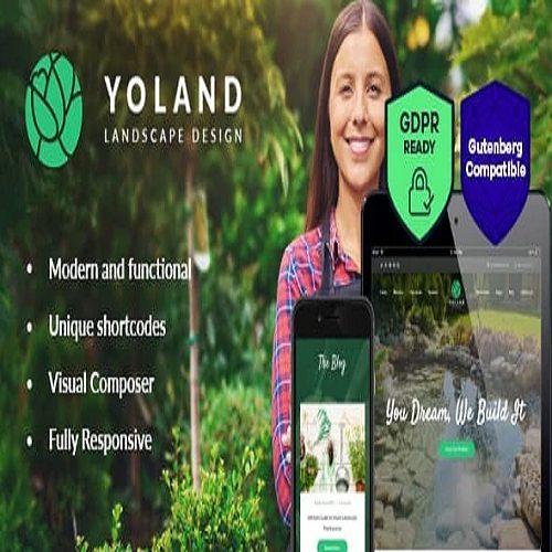 Yoland Landscape Design Garden Accesories Store WordPress Theme
