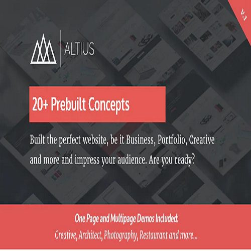Altius Multi Purpose WordPress Theme with Visual Composer