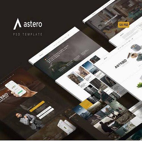 Astero — Multipurpose Portfolio Blog Store PSD