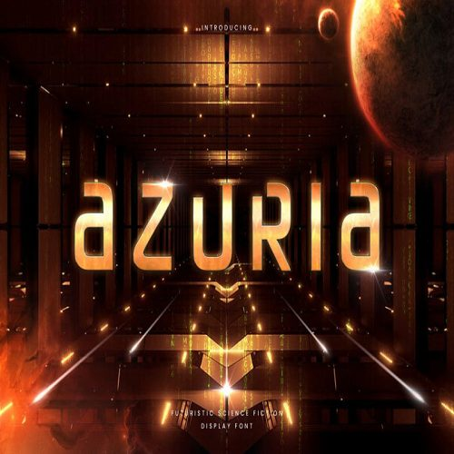 Azuria Technology Science Font