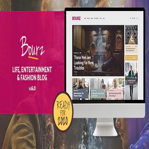 Bourz Life Entertainment Fashion Blog Theme