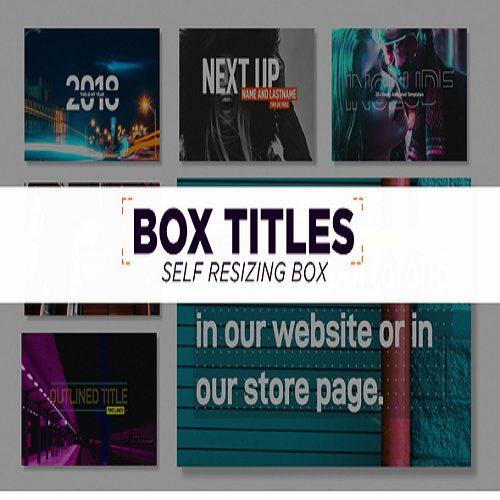 Box Titles Self Resizing