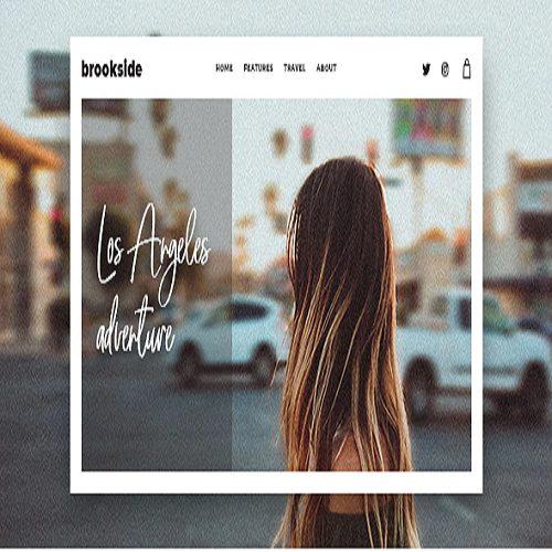 Brookside Personal WordPress Blog Theme
