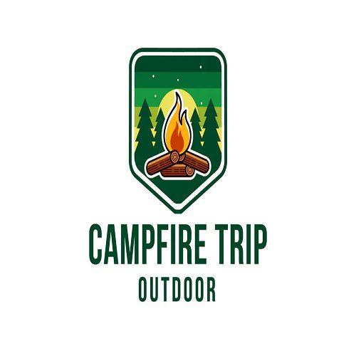 Campfire Trip Outdoor Logo Template
