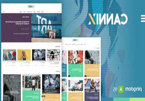 Cannix A Vibrant WordPress Theme for Creative Bloggers