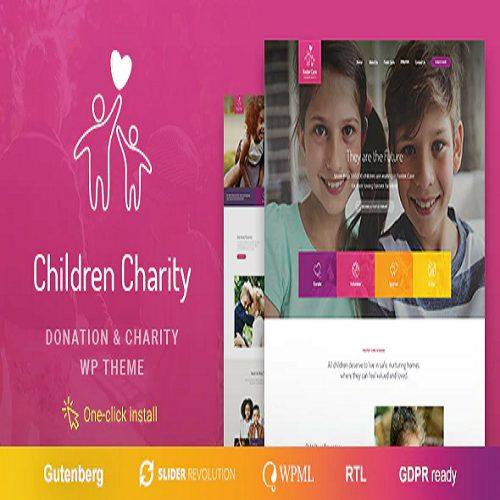 Children Charity Nonprofit NGO WordPress Theme