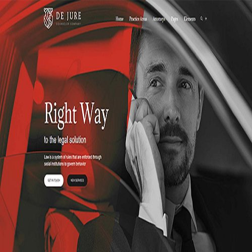 De Jure Attorney and Lawyer WP Theme