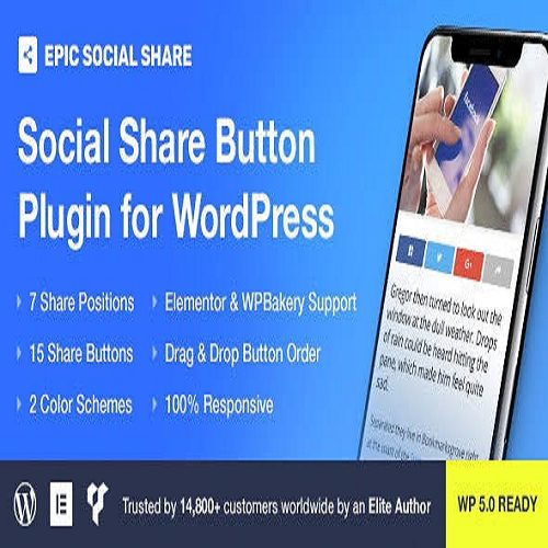 Epic Social Share Button for WordPress and Add Ons for Elementor and WPBakery Page Builder