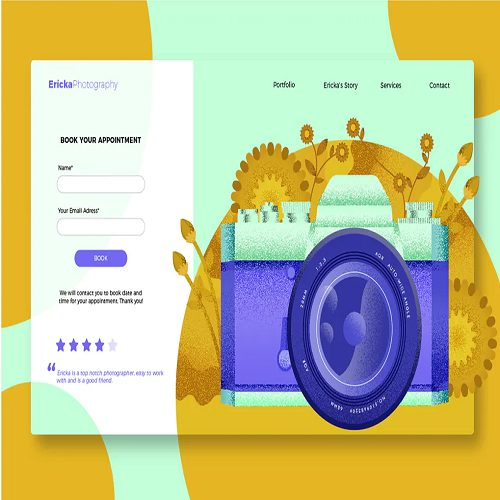 Floral Photography Banner Landing Page