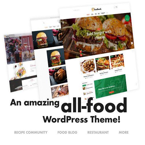 Foodbook Recipe Community Blog Food Restaurant Theme