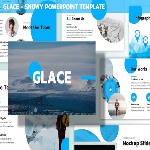 Glace Snowy Powerpoint Template