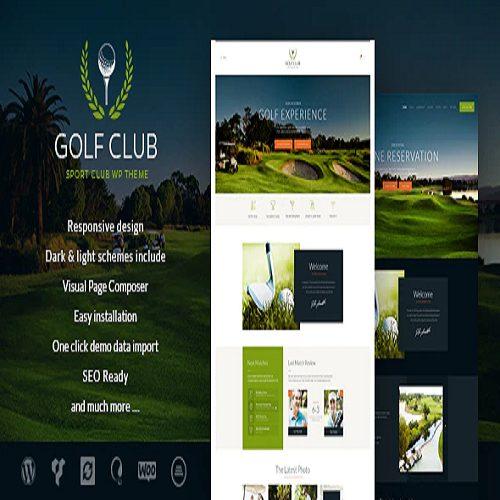 Golf Club Sports Events WordPress Theme