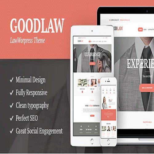 GoodLaw A Lawyers Legal Advisor Attorney WordPress Theme