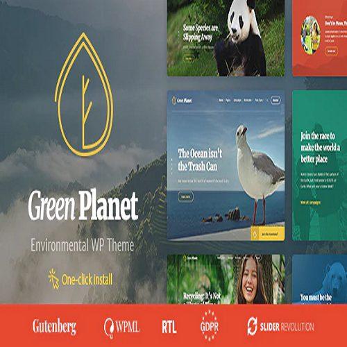 Green Planet Environmental Non Profit Organization WordPress Theme
