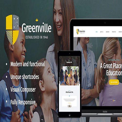 Greenville A Private School University Education WordPress Theme