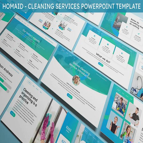 Homaid Cleaning Services Powerpoint Template