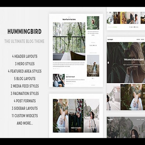 Hummingbird The Ultimate Blog Theme