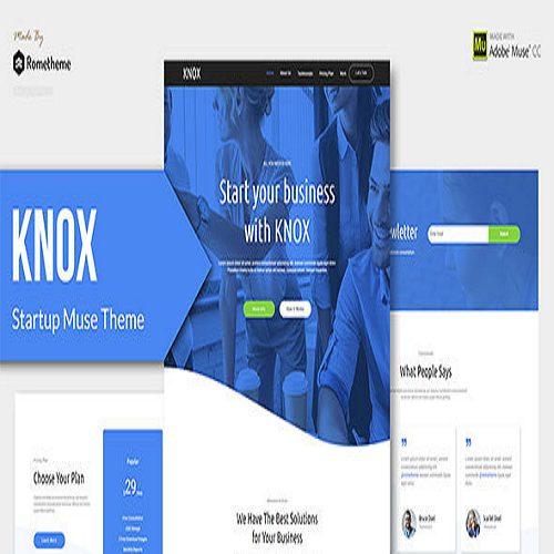 KNOX App Landing Page HTML Template