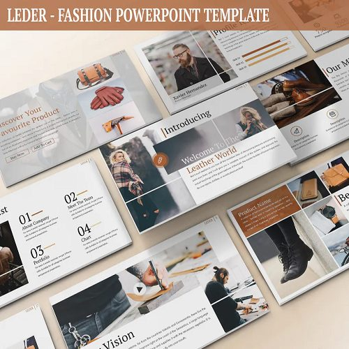 Leder Fashion Powerpoint Template