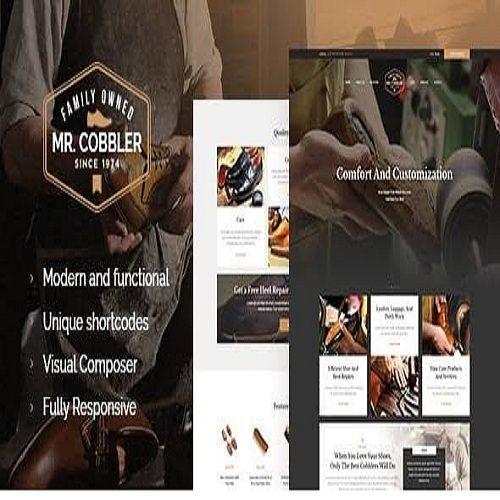 Mr. Cobbler Custom Shoemaking Footwear Repairs WordPress Theme