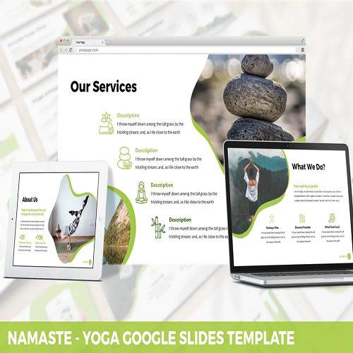 Namaste Yoga Google Slides Template