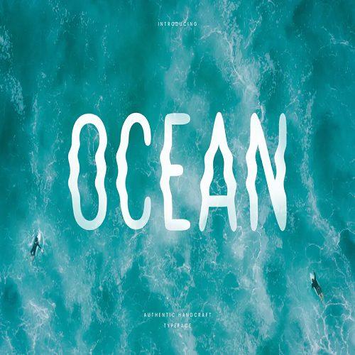 Ocean Hand Writing Summer Font