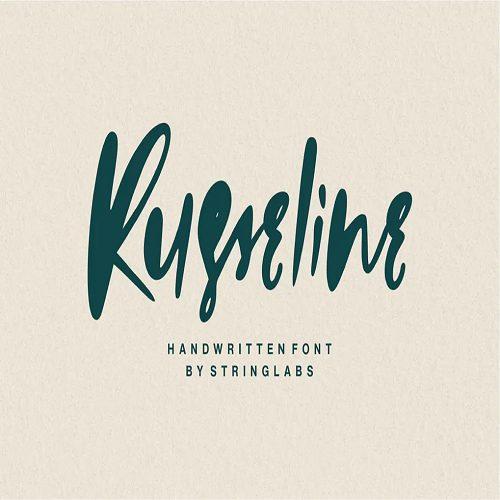 Russeline Handwritten Font