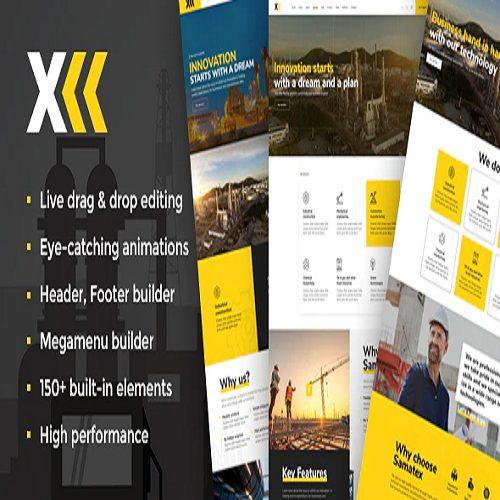Samatex Industrial WordPress Theme Woocommerce