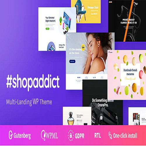 Shopaddict WordPress Landing Pages To Sell Anything