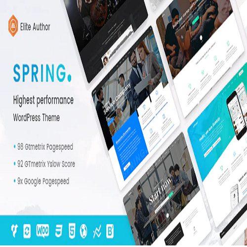 Spring Highest Performance Multipurpose WordPress Theme