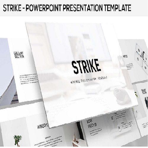 Strike Minimal Powerpoint Template