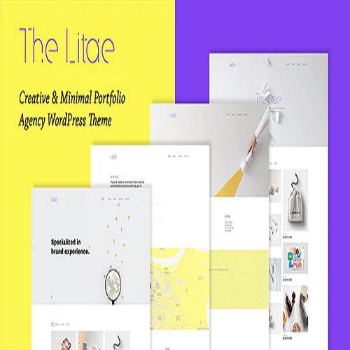 The Litae Creative Minimal Portfolio WordPress Theme