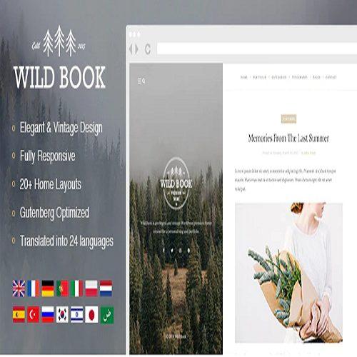 Wild Book Vintage Elegant WordPress Blog Theme