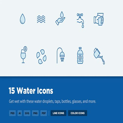 15 Water Icons