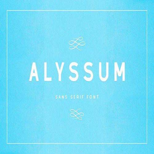 Alyssum Sans Serif Font