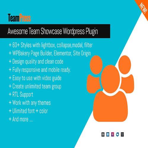 Awesome Team Showcase Wordpress plugin TeamPress