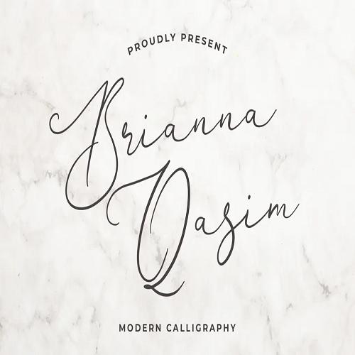 Brianna Qasim Beautiful Calligraphy Font