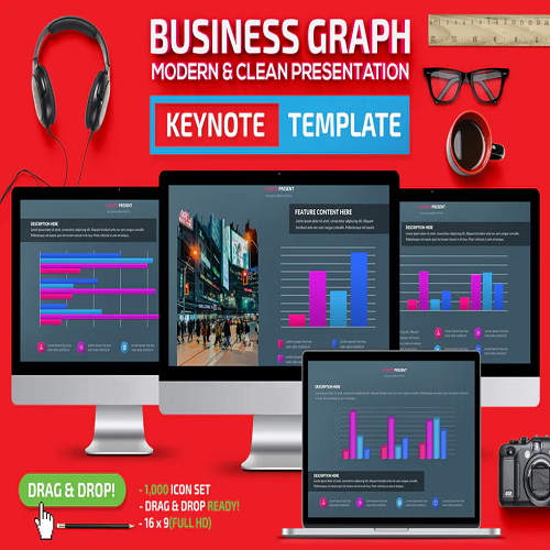 Business Graph Keynote Template