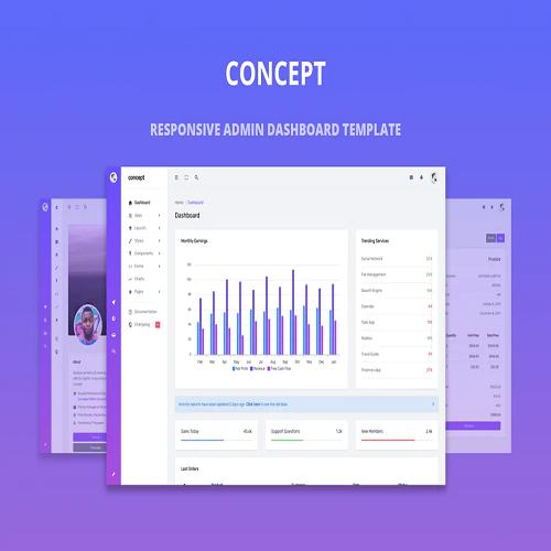 Concept Responsive Admin Dashboard Template